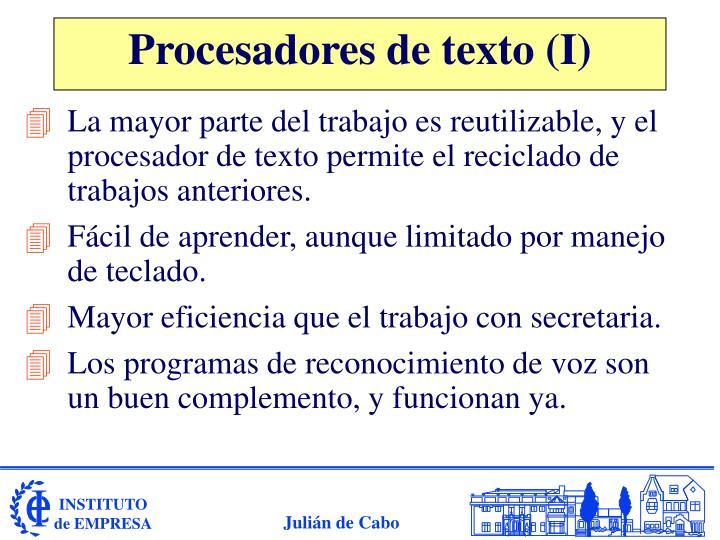 Procesadores de texto (I)