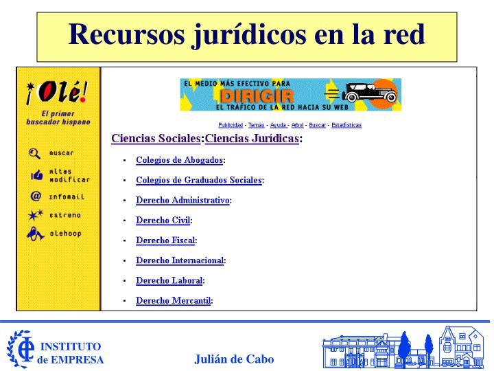 Recursos jurídicos en la red
