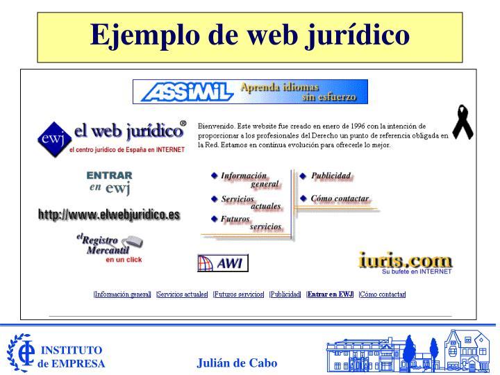 Ejemplo de web jurídico