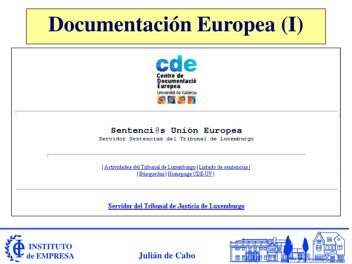 Documentación Europea (I)