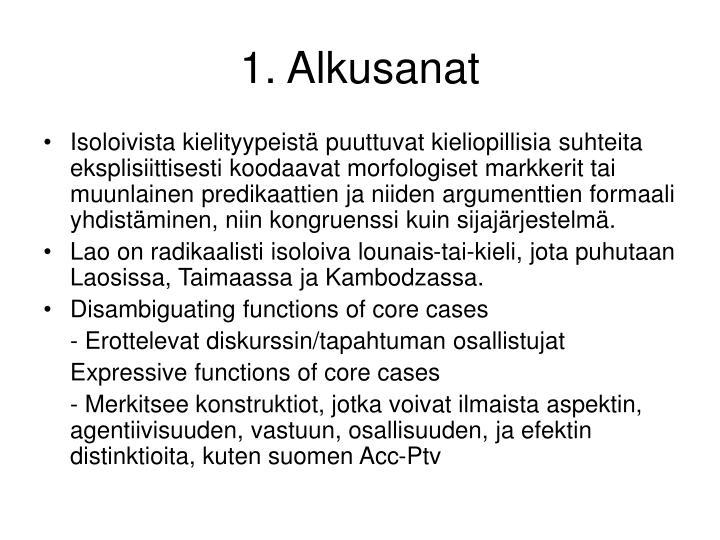 1. Alkusanat