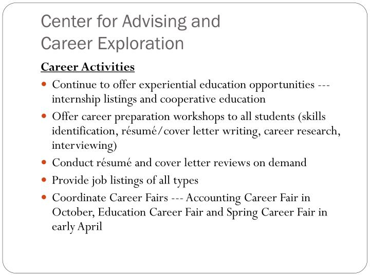 Center for Advising and