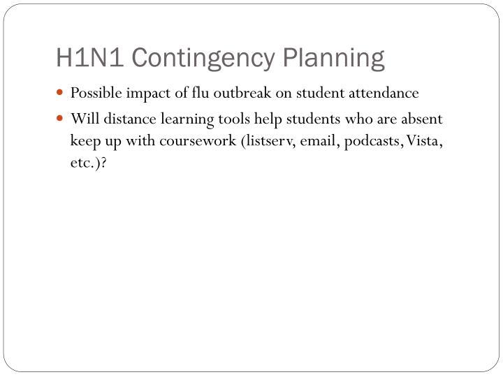 H1N1 Contingency Planning
