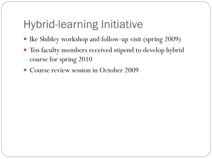 Hybrid-learning Initiative