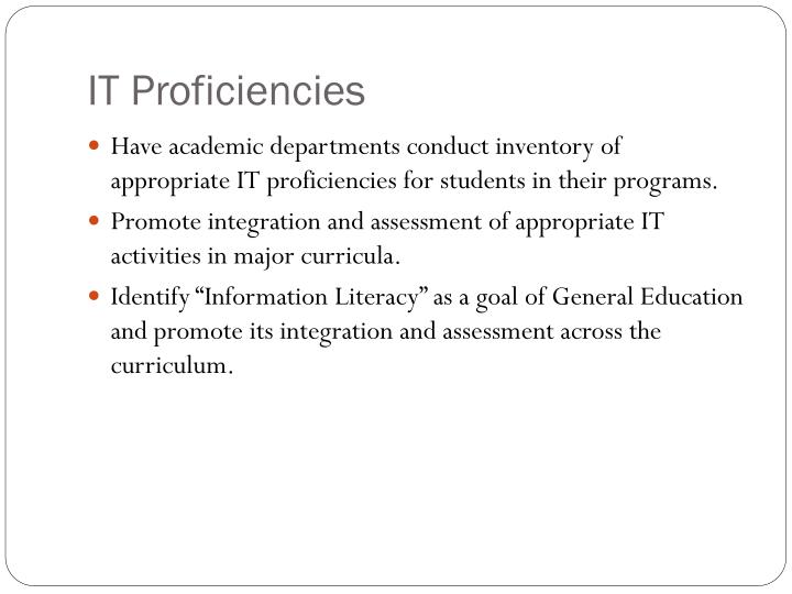 IT Proficiencies