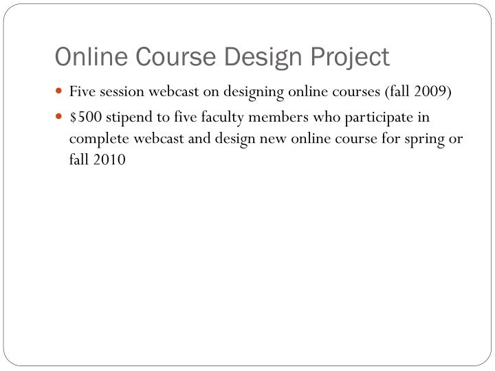 Online Course Design Project