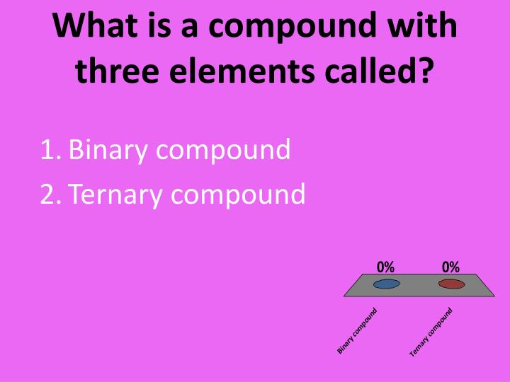 What is a compound with three elements called?