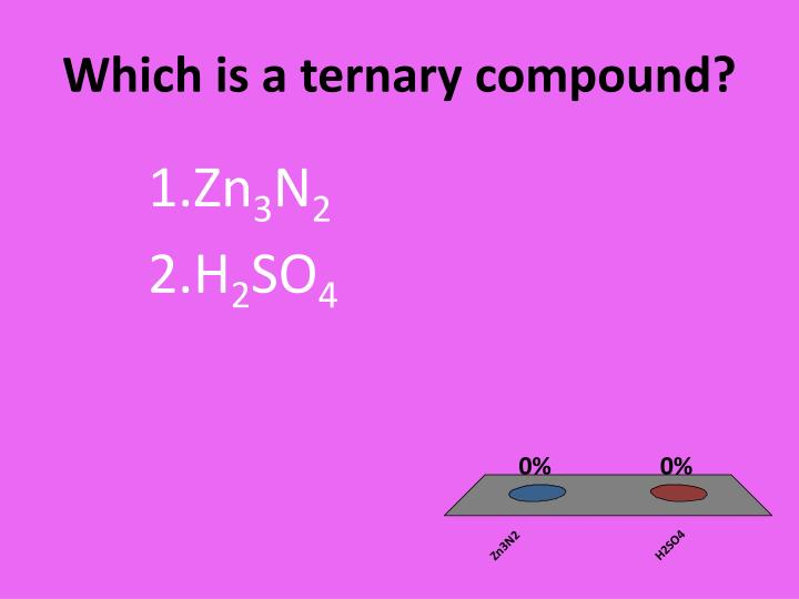 Which is a ternary compound?
