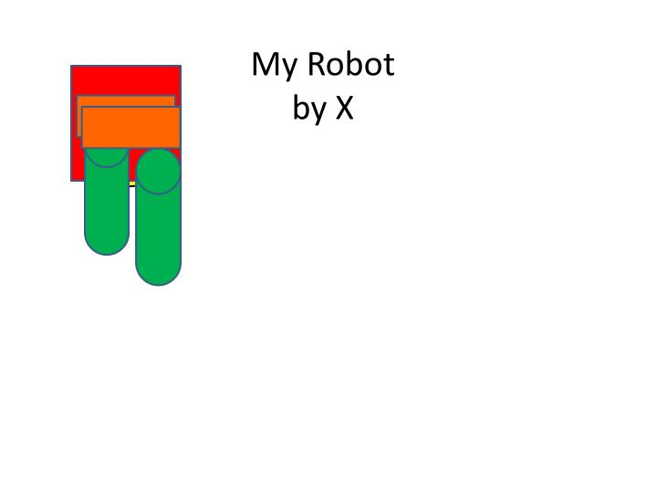 My robot by x