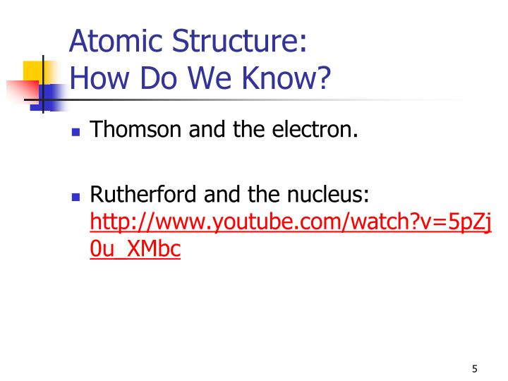 Atomic Structure: