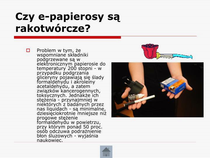 Czy e-papierosy są rakotwórcze?