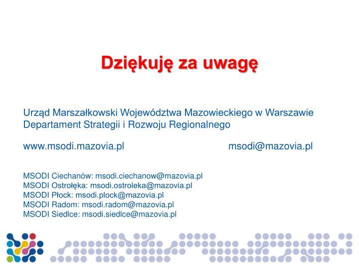 Urząd Marszałkowski Województwa Mazowieckiego w Warszawie