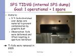 sps tidvg internal sps dump goal 1 operational 1 spare