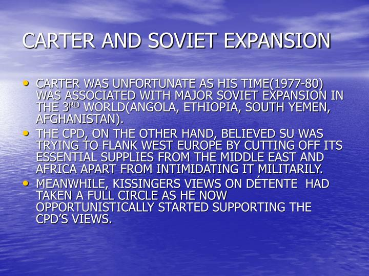 CARTER AND SOVIET EXPANSION