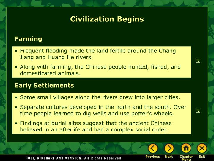 Civilization Begins