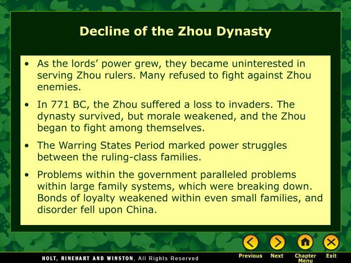 Decline of the Zhou Dynasty
