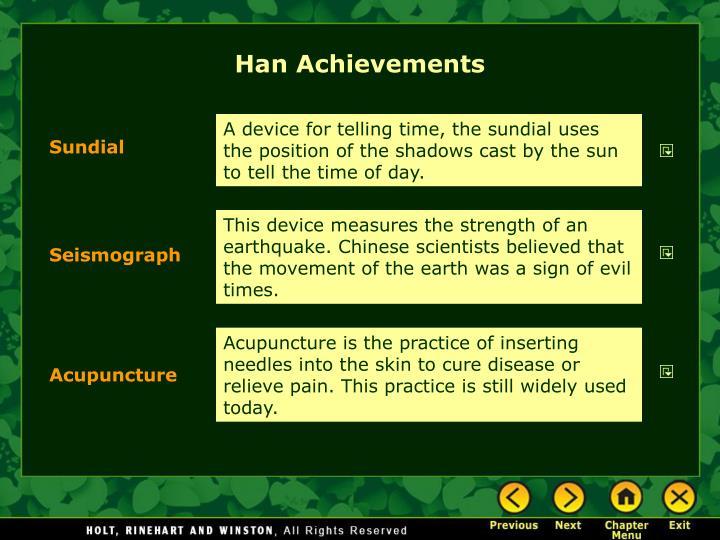 Han Achievements