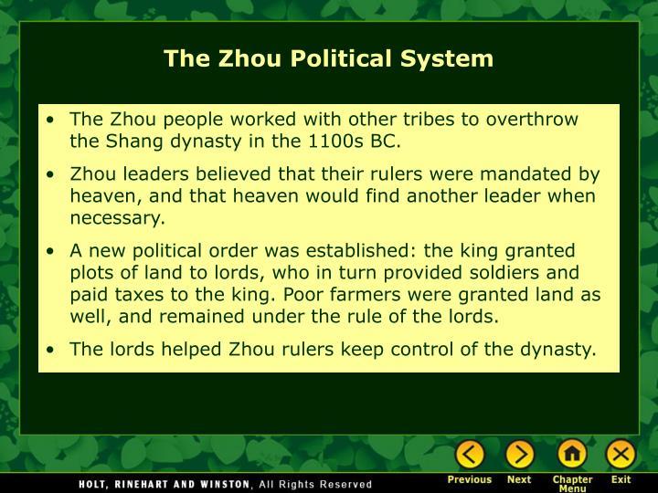 The Zhou Political System