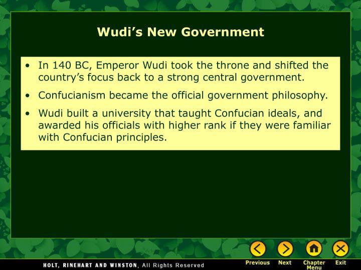 Wudi's New Government