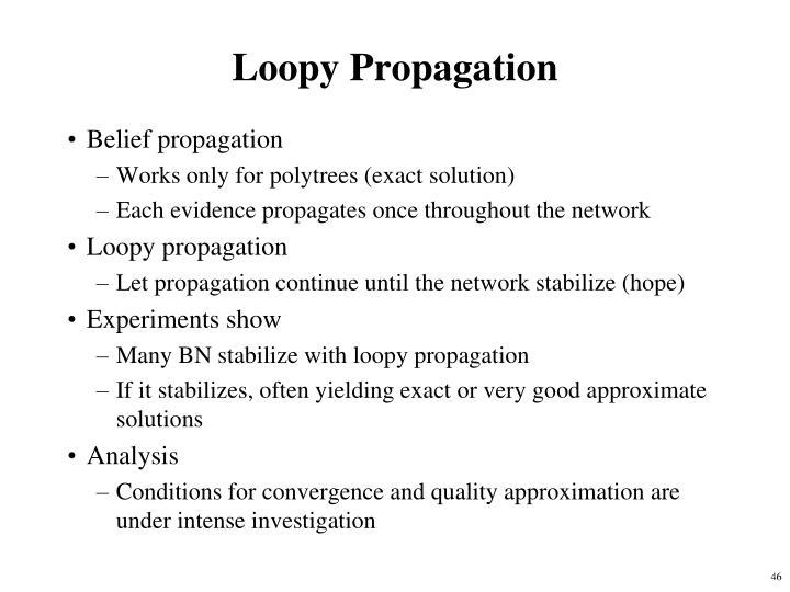 Loopy Propagation