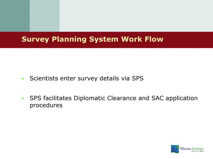 Survey Planning System Work Flow