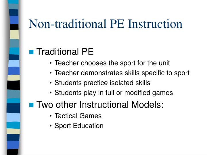 Non-traditional PE Instruction