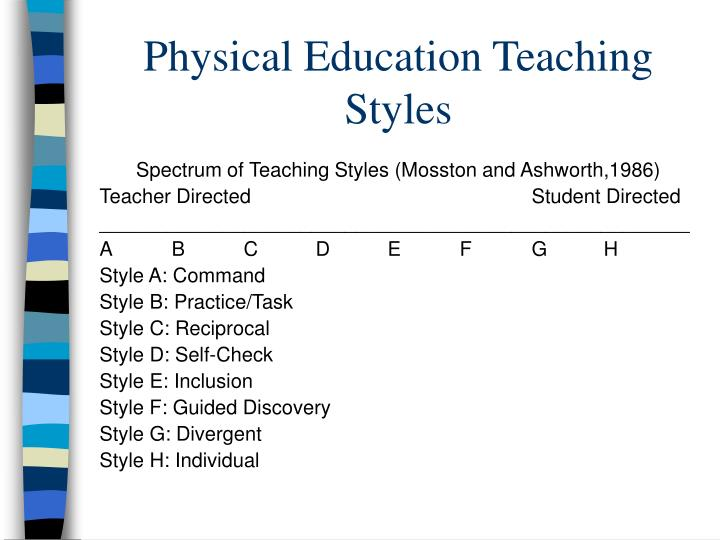 Physical Education Teaching Styles