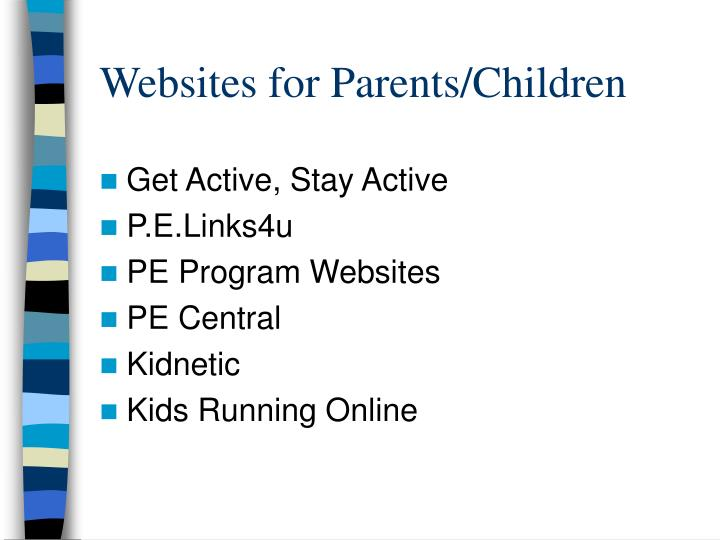 Websites for Parents/Children