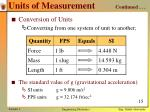 units of measurement continued3