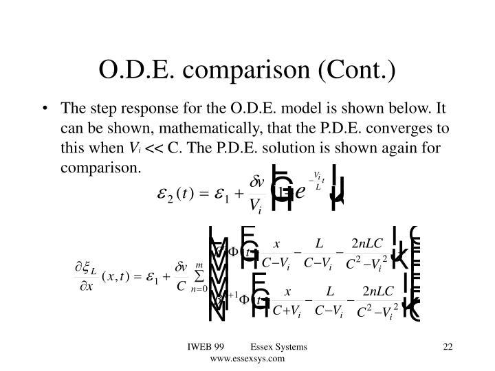 O.D.E. comparison (Cont.)