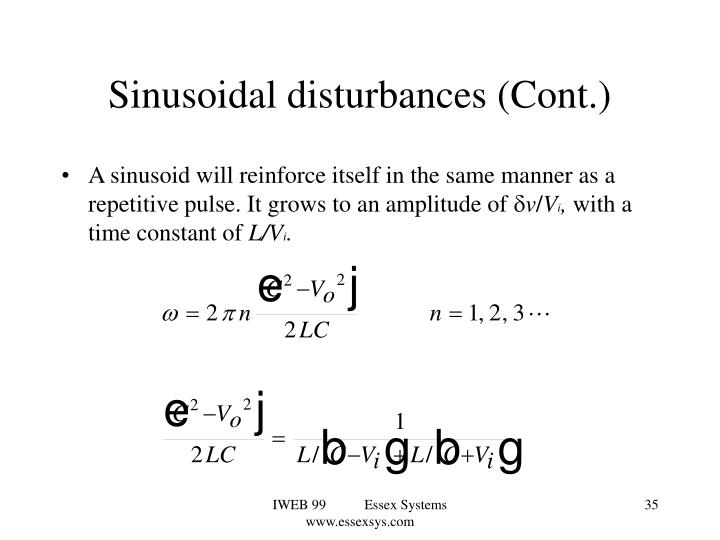Sinusoidal disturbances (Cont.)