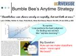 bumble bee s anytime strategy