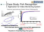 case study fish recognition application for video monitoring system