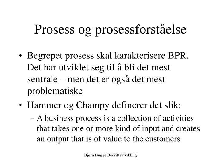 Prosess og prosessforståelse