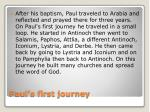 paul s first journey