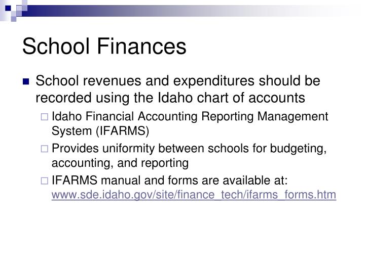 School finances