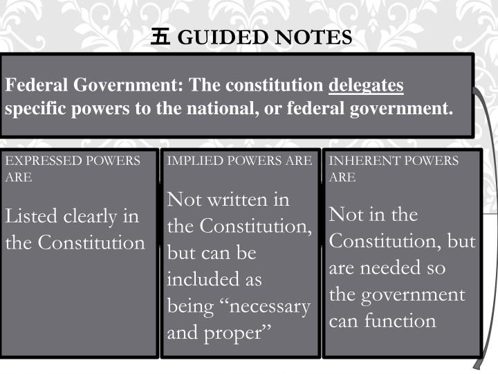 Federal Government: The constitution