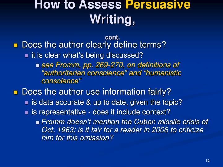 How to Assess
