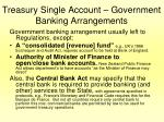 treasury single account government banking arrangements