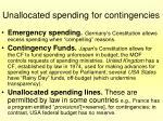 unallocated spending for contingencies