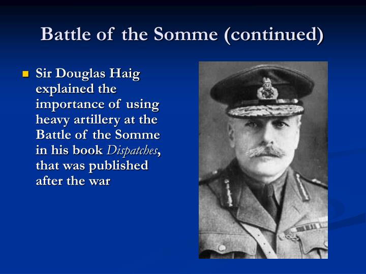 Battle of the Somme (continued)