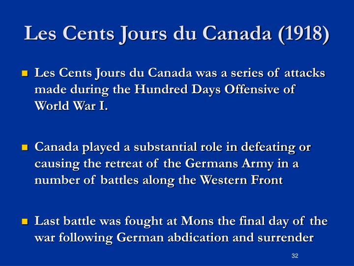 Les Cents Jours du Canada (1918)