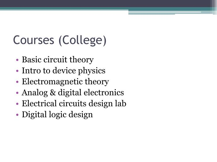 Courses (College)