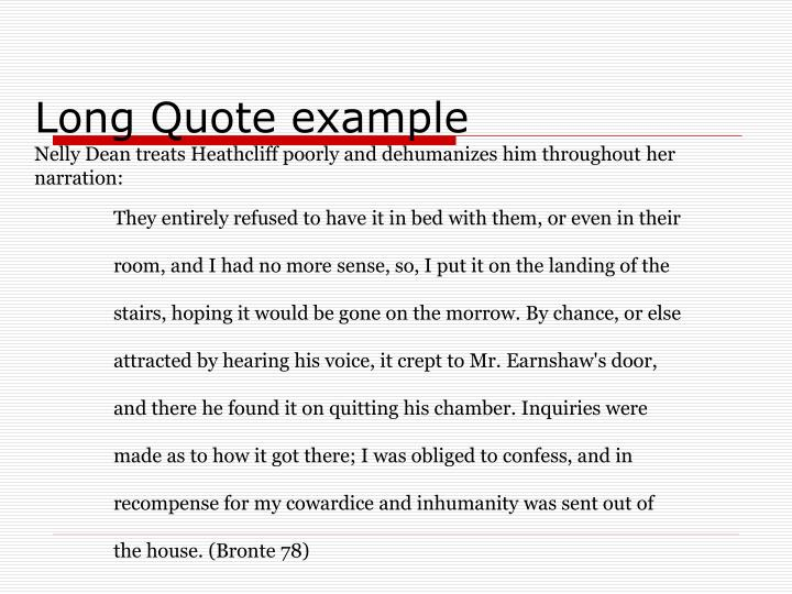 Long Quote example