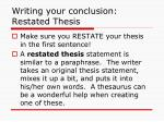 writing your conclusion restated thesis