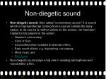 non diegetic sound