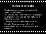things to consider1