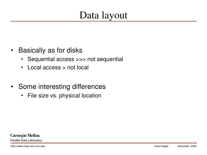 Data layout