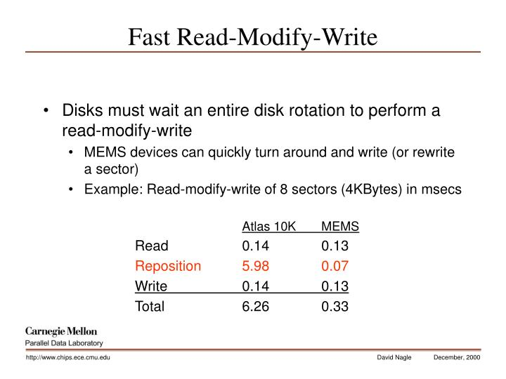Fast Read-Modify-Write