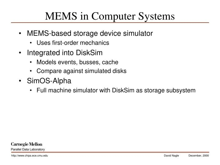 MEMS in Computer Systems
